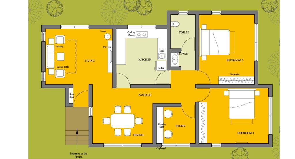 House floor plan floor plan design 1500 floor plan for Housing plan in india