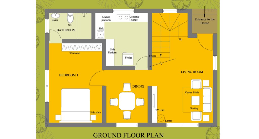 House floor plan floor plan design 1500 floor plan for Small house design plans in india image