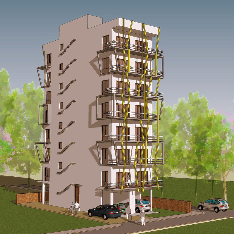 Indian residential building designs Apartment house plans