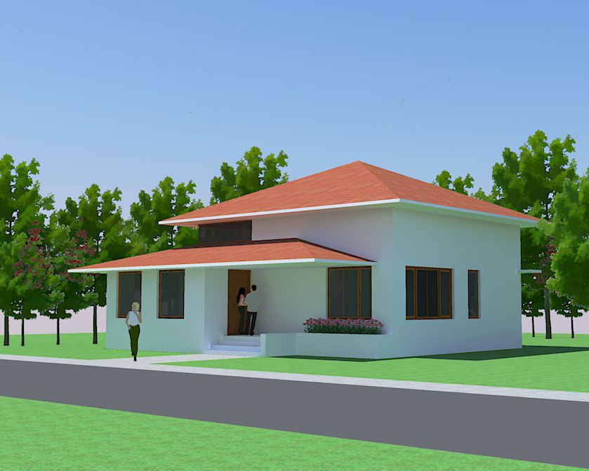 Indian small house plans for Indian bungalow designs and floor plans