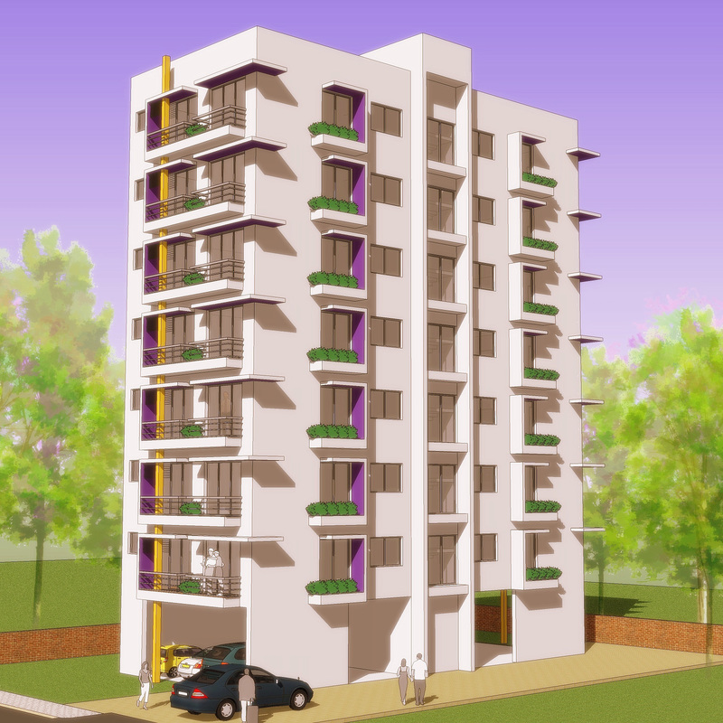 Indian residential building designs for Residential building design plans