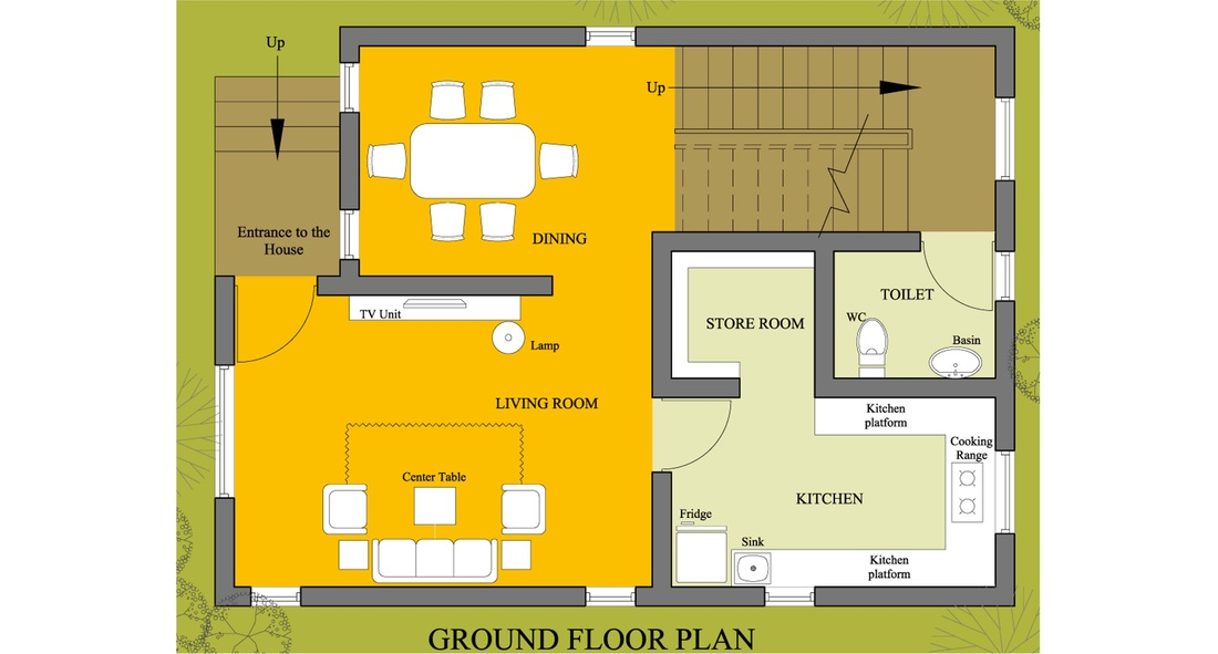 House floor plan floor plan design 1500 floor plan for Best house interior designs in india