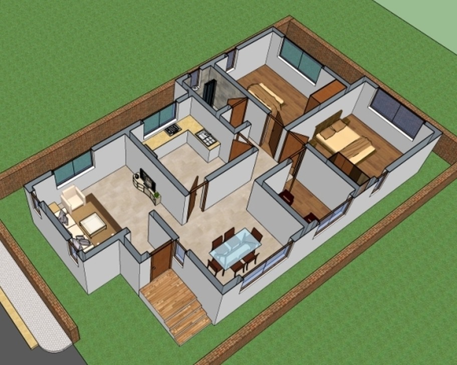 House floor plan 4004 house designs small house plans house floor plans home plans - Ground floor house plans the ideal choice ...