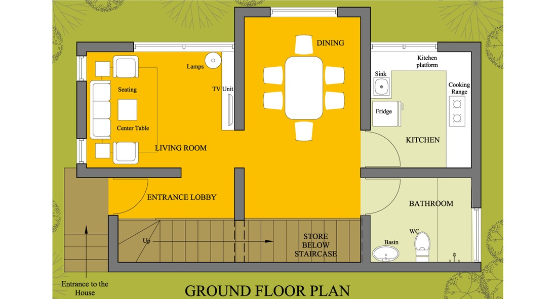 Small house plans in india home design 2018 for Indian home map plan